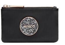 MIMCO Black Small Pouch BLISS Leather Wallet Clutch Bag BNWT Rosegold Sparks New