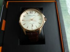Giorgio Fedon 1919 PAT Automatic 43 mm Rose Gold Silver Dial w Brown Leather