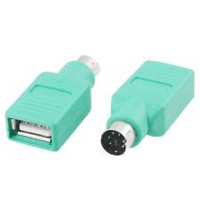 I59 Adapter PS2 PS/2 Stecker auf USB 2.0 Buchse Konverter für PC Maus Tastatur