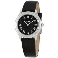 Fendi Classico Black Dial Ladies Leather Watch F250031011
