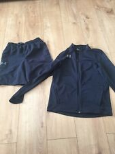 Under Armour Shorts & Zip Up Top Size - YLG