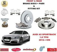 FOR AUDI A5 HATCH 1.8 TFSI 2012>ON FRONT + REAR BRAKE DISCS & PADS + FITTING KIT