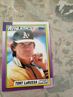 Manager Tony LaRussa Oakland A's 1990 Topps Card Ungraded*
