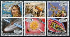 Central African Rep 1985 MNH Halleys Comet Newton 6v Set Astronomy Space Stamps