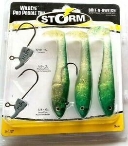 "Emerald Gold Ice - Storm WildEye Pro Paddle Tail 3-1/2"" WPPT35EGI 3.5""Item T 36"