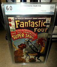 Marvel comics Fantastic four 18 6.0 pgx cgc 1st super skrull 1963