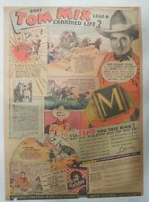 """Ralston Cereal Ad: Tom Mix """"Signet Ring"""" Premium from 1937 Size: 11 x 15 inches"""