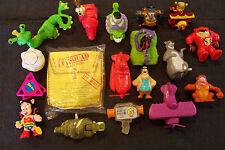 lot of 18 vintage fast food restaurant give-away toys, Disney McDonald's etc.