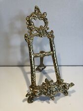 """BRASS EASEL 21cm / 8"""" Plate Picture Wedding Display Book Stand NEW"""