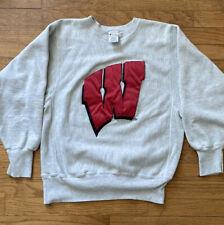 Wisconsin Badgers Vintage Reverse Weave Champion Crewneck Size M 90's