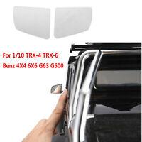 Metal Reflective Rear View Mirror Sheet for 1/10 TRX-4 TRX-6 Benz G63 G500 Car