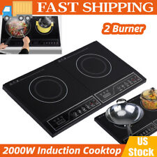 110V Electric Dual Induction Cooker Cook 2000W Counter Double Burner