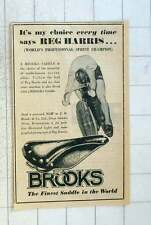 1955 Cycle Sprint Champion Reg Harris Chooses Brooks Saddle Every Time
