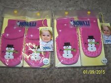 Nowali Snowman Moccasin 6-12 mo Girls Pink Sweden NEW