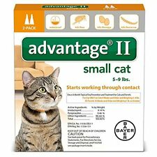 Advantage II for Small Cats 5-9 Lbs - 2 Dose Pack-Genuine EPA Approved