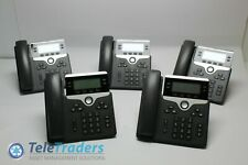 LOT OF 5 CISCO CP-7841-K9 IP 7841 VOIP LCD DISPLAY CPN: 74-101624-02 PHONE