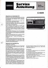 Service Manual-Anleitung für Grundig C 6500