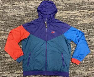 Nike Sportswear NSW Windrunner Jacket Purple/Blue/Red 727324-590 Men's Size XL