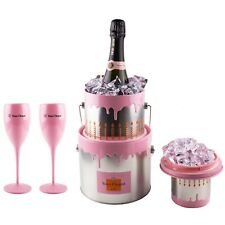 Veuve Clicquot Rose 0,75l Cake Champagner Kühler 200. Geburtstag Party +2 Gläser