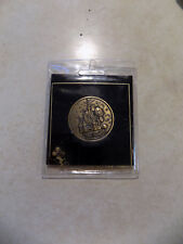 Vtg Walt Disney World CINDERELLA CASTLE Bronze Coin Medal w MICKEY MOUSE & Lands