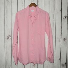 Steven Alan Men's Button Down Shirt Pink Cotton Size XL Made in USA