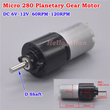 DC 6V~12V 120RPM Micro 280 Planetary Gearbox Gear Motor Slow Speed Reduction