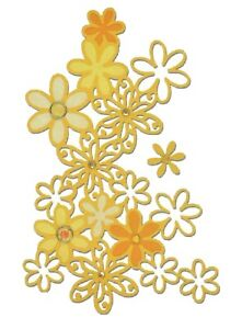 LOVELY Sizzix THINLITS 2pk Dies DRIFTING DAISY #661295 Discontinued 2016 rrp £10