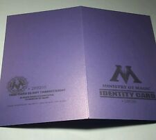 Custom Harry Potter Inspired Ministry of Magic ID card