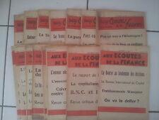 lot 17 hebdomadaires AUX ECOUTES DE LA FINANCE 1931 - 1932