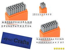 Set 36 Steel 3mm Number Letter Marking Punch Metal Stamp Kit Jewelry Artist Case
