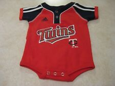 Adidas Minnesota Twins One Piece Body Suit Newborn Infant 0-3 Months