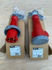 New Hubbell 60 Amp / 480 Volt Connector and Plug Set - HBL460P7W & HBL460C7W