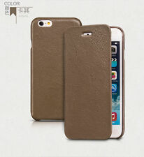 """HOCO PREMIUM COLLECTION SIDE OPEN LEATHER case for iphone 6 4.7"""" KHAKI H441"""