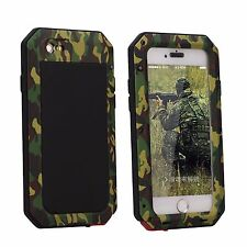 Shockproof Military Heavy Duty Gorilla Glass Metal Cover Case for iPhone X 8 S9