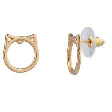 Lux Accessories Cat Ear Kitty Meow Stud Earrings