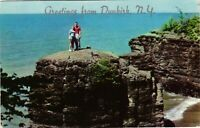 Vintage Postcard - Pulpit Rock on Lake Erie Chautauqua County New York NY #1739