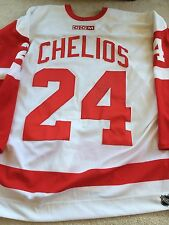 CHRIS CHELIOS Signed Detroit Red Wings Game Authentic PRO NEW Hockey Jersey