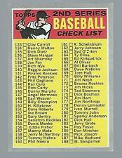 1970 TOPPS #128 2ND SERIES CHECKLIST UNMARKED FAIR CONDITION 1002