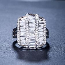 Gorgeous White Sapphire 925 Silver Jewelry Women Wedding New Ring Size 7