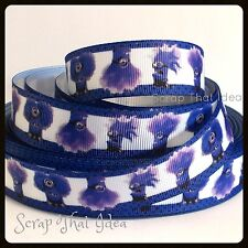 "Evil Minions  RIBBON. 7/8"" Grosgrain.  PURPLE.  Scrapbooking/Bows. Despicable Me"