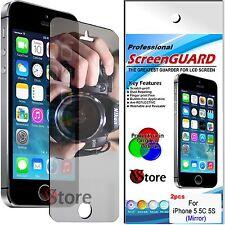 2 Pellicola Per Apple iPhone 5S 5C 5 Specchio Proteggi Salva Schermo Pellicole