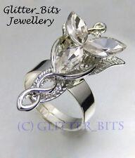 Arwen Evenstar collana anello Hobbit LOTR Il Signore degli Anelli Elven REGOLABILE