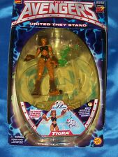 """TIGRA: 5"""" Figure w Magnetic Cat Clawing & Pouncing Action! AVENGERS, Toy Biz NEW"""