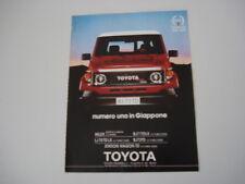 advertising Pubblicità 1989 TOYOTA BJ 73 TD