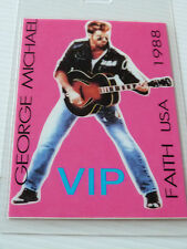 George Michael Faith USA 1988 Laminated VIP Backstage Tour Pass