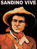 843.Political Poster.SANDINO.Nicaragua Patriot Latin America leader.History art
