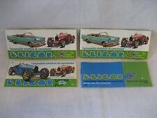 vintage ELICOR diecast toy cars CATALOG France Citroen Renault Bugatti Porsche !