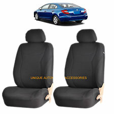 BLACK SPEED AIRBAG COMPATIBLE FRONT LOWBACK SEAT COVERS SET for HONDA ACCORD