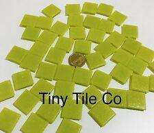50pcs Yellow Glass Mosaic Tiles