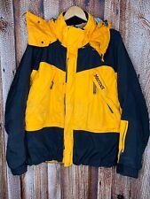 Marmot Mens Large Gore-Tex 2 Ply Zip Up Outdoor Rain Coat Jacket Yellow Black
